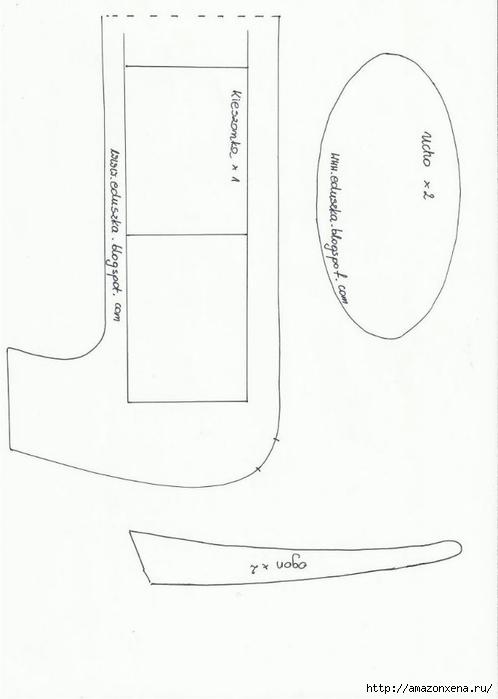 Шьем игрушки. Выкройки зайца и таксы (10) (498x700, 81Kb)