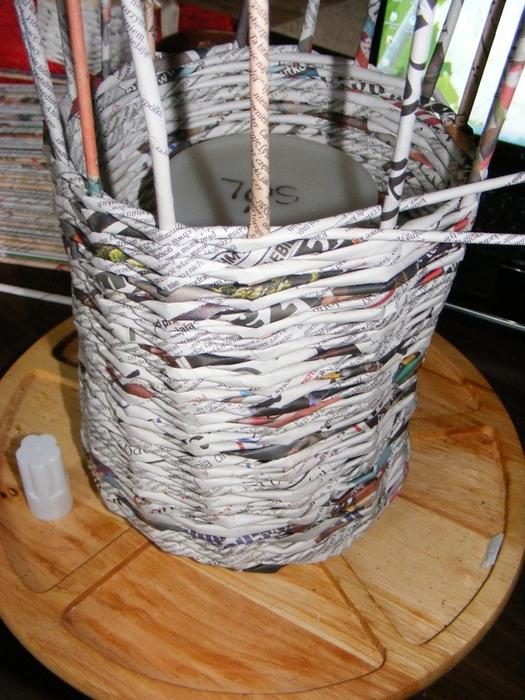 Плетение из газет. МЕЛЬНИЦА. Мастер-класс (3) (525x700, 321Kb)