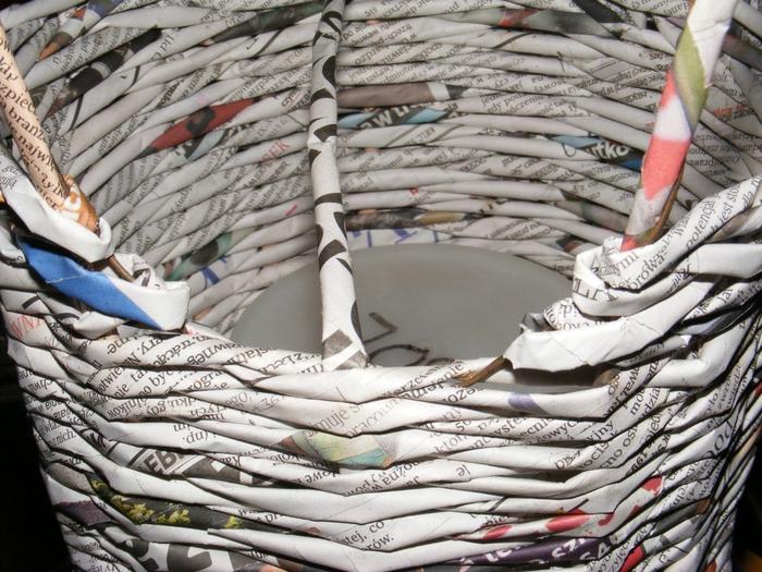 Плетение из газет. МЕЛЬНИЦА. Мастер-класс (9) (700x525, 333Kb)