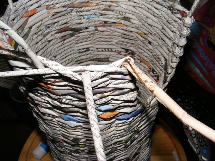 Плетение из газет. МЕЛЬНИЦА. Мастер-класс (11) (700x525, 317Kb)