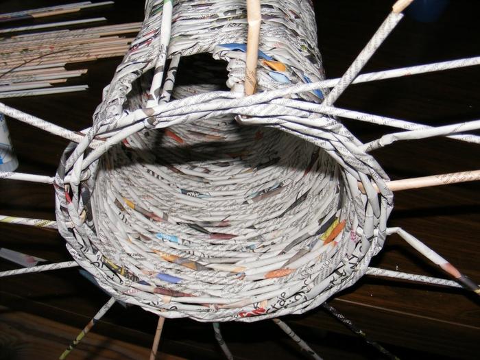 Плетение из газет. МЕЛЬНИЦА. Мастер-класс (17) (700x525, 306Kb)