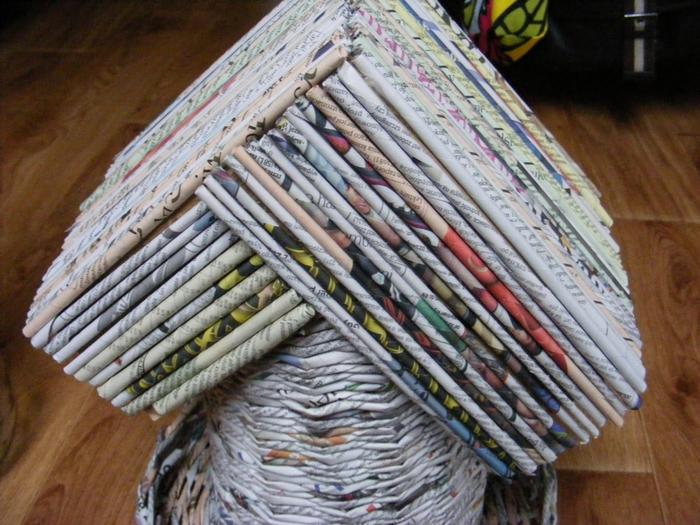 Плетение из газет. МЕЛЬНИЦА. Мастер-класс (39) (700x525, 312Kb)