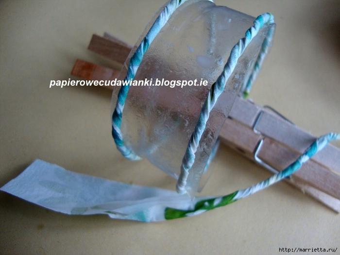 Украшения из бросового материала. Браслеты из салфеток и пластиковой бутылки (10) (700x525, 243Kb)