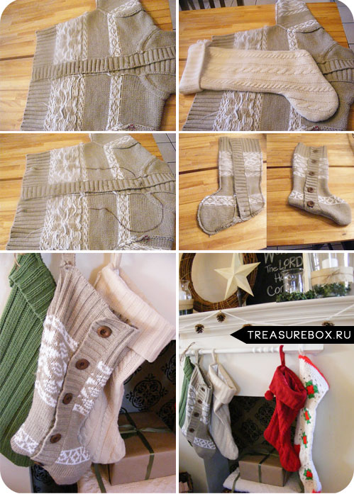 Как сшить из кофты носки