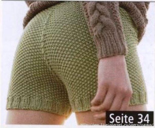 Летние шорты...вязание.
