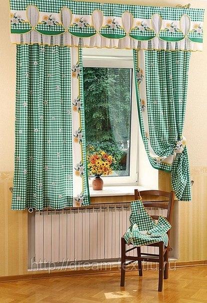 Кухонные шторы до подоконника своими руками фото