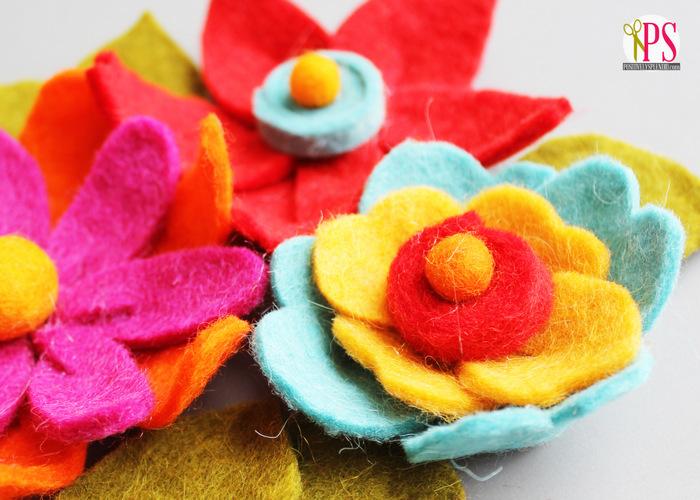 Цветы из мягкого фетра своими руками 2