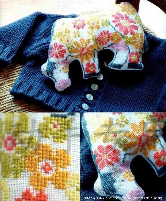 Корова в цветочек– цветная