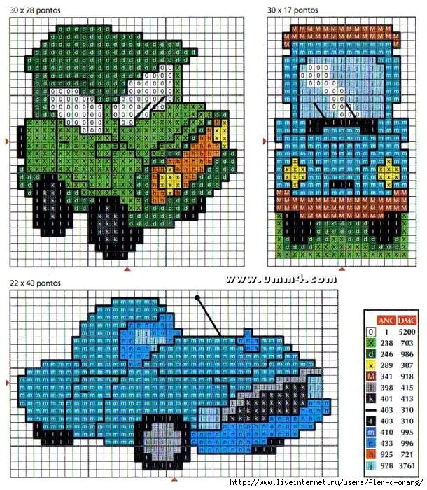 Схема машины вышивка маленькие