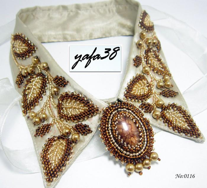 Оригинальные украшения из бисера в исполнении yafa 38.