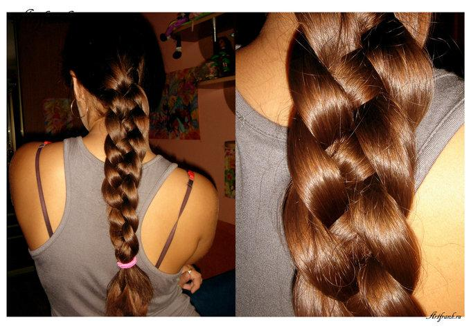 коса, коса из 5 прядей с