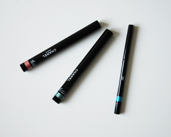 Chanel Stylo eyeshadow 27 Pink lagoon, 37 Jade shore, Chanel Stylo yeux waterproof 57 True blue/3388503_6 (700x563, 179Kb)