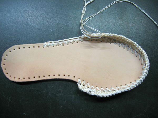 Вязаная обувь своими руками фото