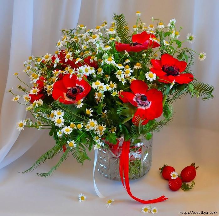 Красивые букеты цветов в вазе красивые