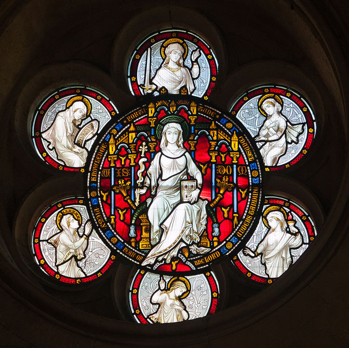 Dublin_Christ_Church_Cathedral_Chapel_of_Laurence_O'Toole_Window_Virgin_and_Child_with_Saint_Luke_by_Patrick_Pollen_Detail_2012_09_26 (700x697, 163Kb)