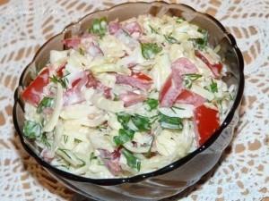 """Салат """" Капустный """" с помидорами и сыром (300x225, 30Kb)"""