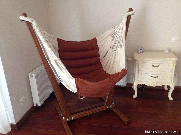 Как сделать гамак-кресло своими руками в домашних условиях