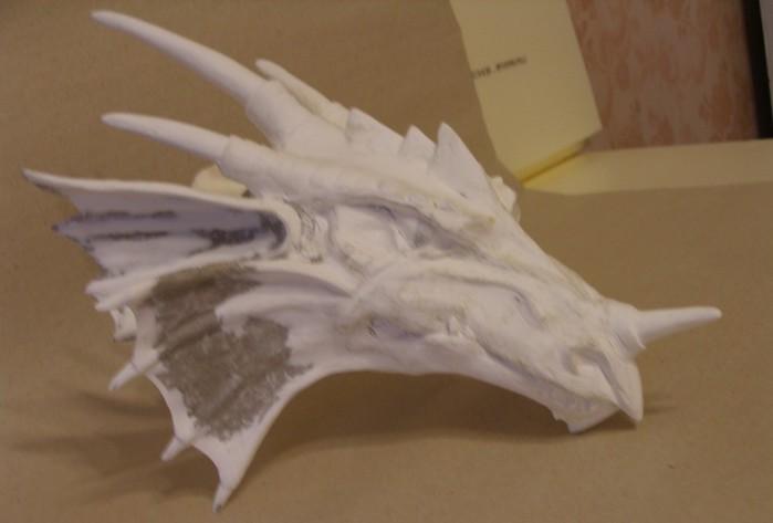 Голова дракона своими руками из папье-маше
