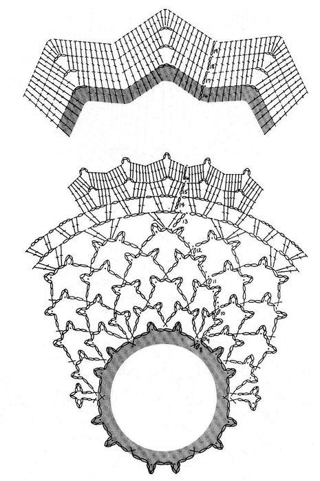 Вязание крючком. Порхающая салфетка2 (465x699, 72Kb)