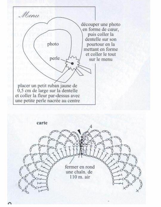 Рамочка для фотографий крючком. Схемы (1) (540x693, 71Kb)