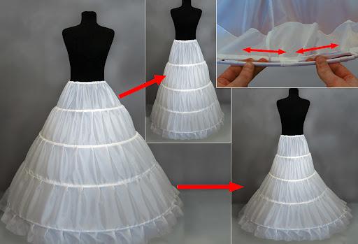 Сшить подъюбника свадебного платья