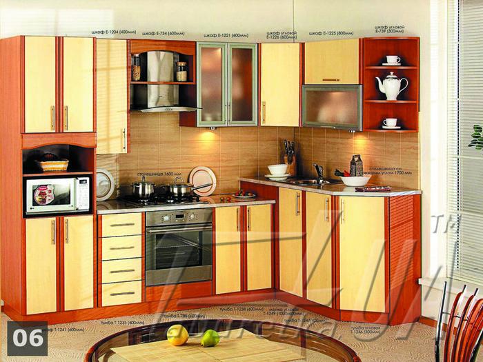 Кухонный гарнитур угловой шкаф 5