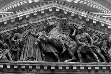 Встреча Исаакия Далматского с Императором Валентом (466x312, 40Kb)