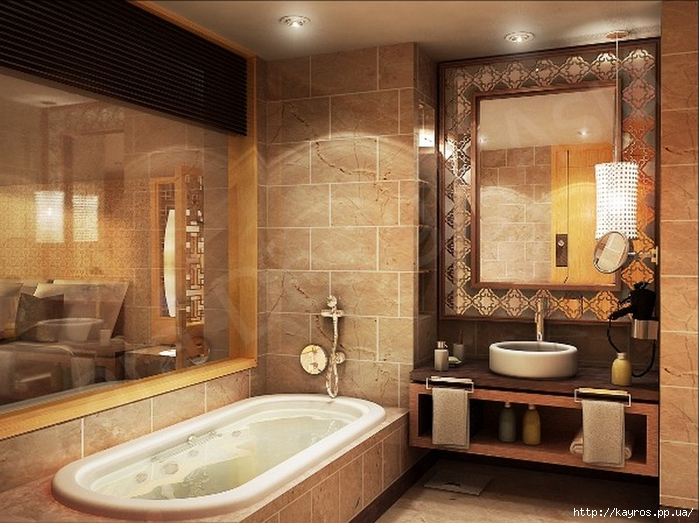 Необычный дизайн интерьера ванных 7 (700x523, 289Kb)