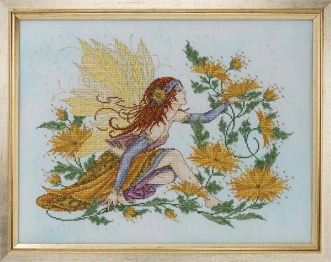 Фея хризантем(вышивка крестом