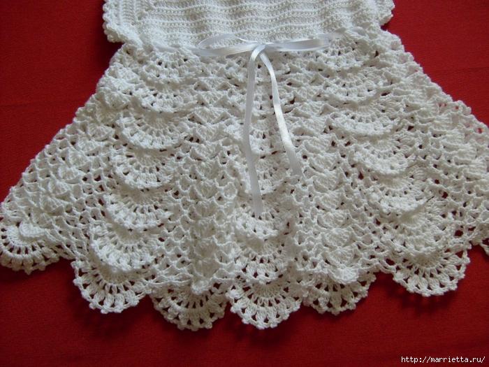 платье для девочки крючком (6) (700x525, 342Kb)