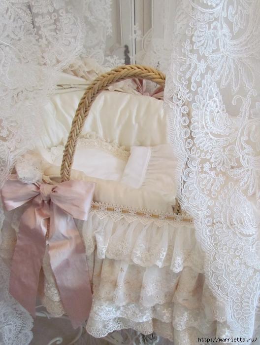 Очень красивая идея оформления кроватки для новорожденного (1) (528x700, 281Kb)