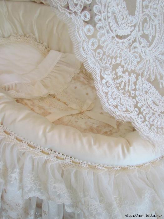 Очень красивая идея оформления кроватки для новорожденного (2) (525x700, 271Kb)