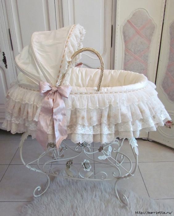 Очень красивая идея оформления кроватки для новорожденного (4) (564x700, 271Kb)