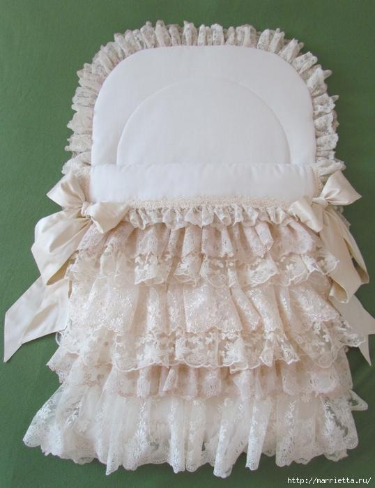 Очень красивая идея оформления кроватки для новорожденного (6) (538x700, 270Kb)