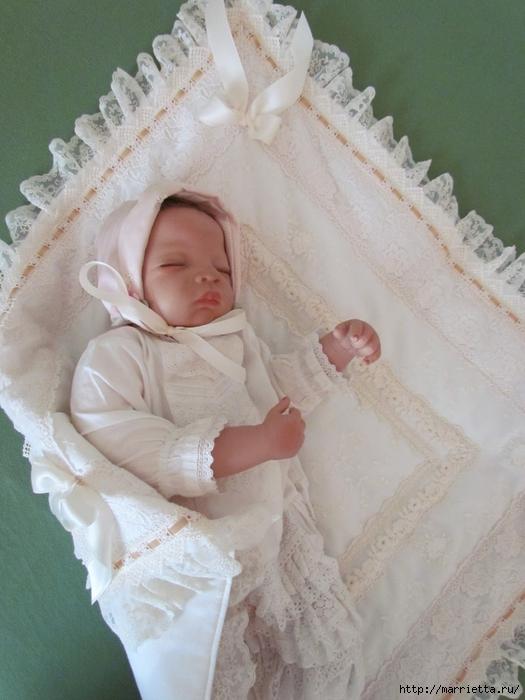 Очень красивая идея оформления кроватки для новорожденного (10) (525x700, 243Kb)