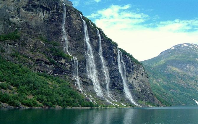 норвежские фьорды фото Geirangerfjorden 1 (670x419, 291Kb)