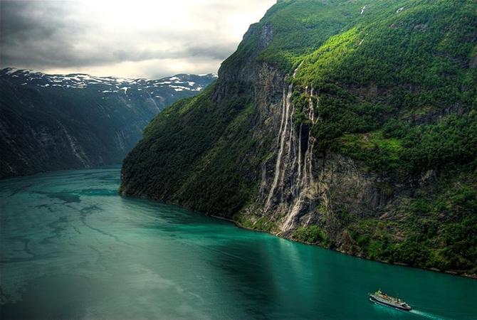 норвежские фьорды фото Geirangerfjorden 5 (670x450, 246Kb)