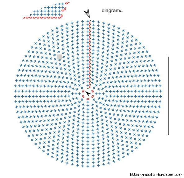 Подушка БОЖЬЯ КОРОВКА. Вязание крючком для детей (5) (593x575, 232Kb)