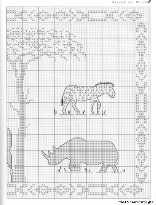 Подушки с вышивкой. Тематика - САФАРИ, ЕГИПЕТ (3) (533x699, 194Kb)