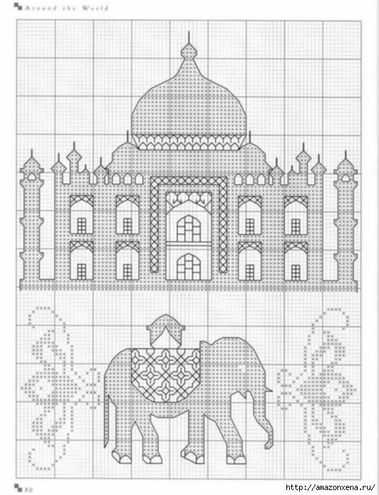 Подушки с вышивкой. Тематика - САФАРИ, ЕГИПЕТ (4) (536x699, 202Kb)