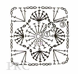 маленькая салфетка с ромашками крючком (1) (273x259, 66Kb)