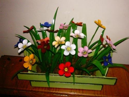 цветы из пластиковых бутылок (42) (500x375, 108Kb)