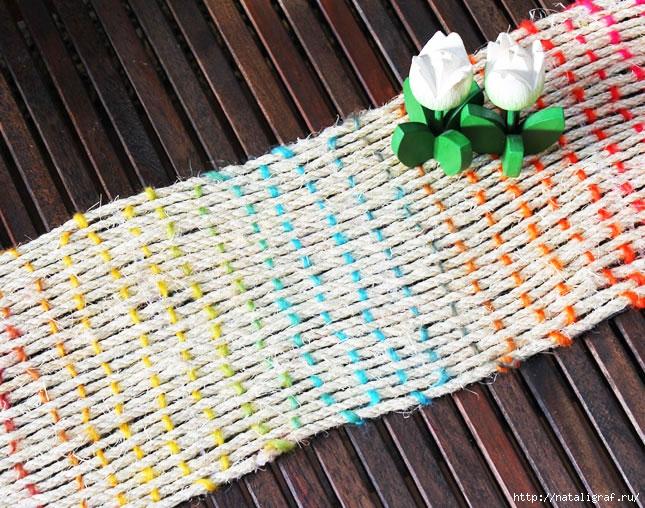 Плетение ковриков на рамке