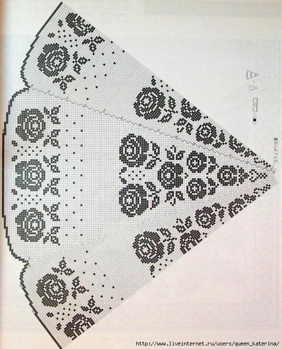 Филейное вязание салфетки круглые схемы