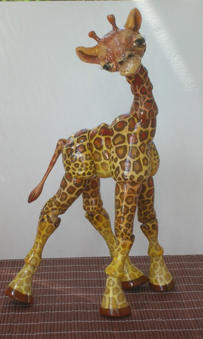 Жираф из папье-маше своими руками