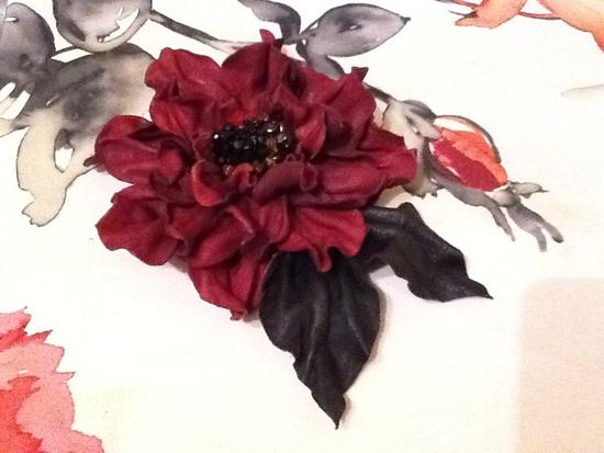 выкройки цветов из кожи
