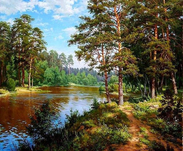 русская природа в живописи: