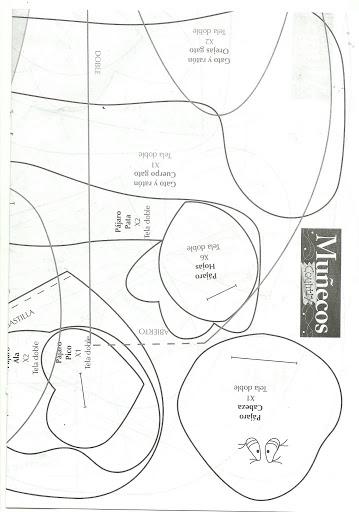 игрушки из ткани с выкройками. совушки (11) (359x512, 85Kb)