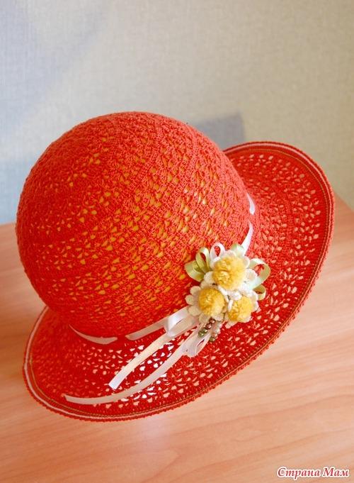 летняя шляпка крючком (3)