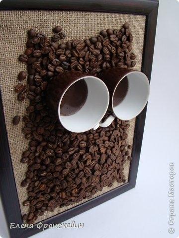 Сова из кофейных зерен своими руками